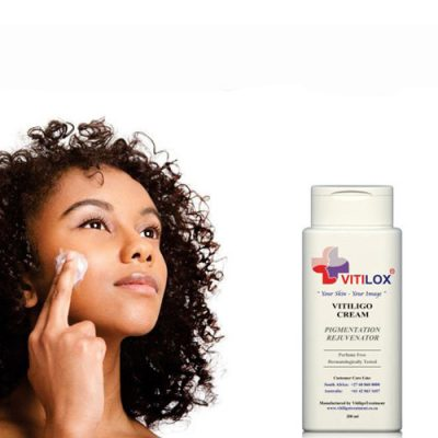 Applying Vitilox to your face