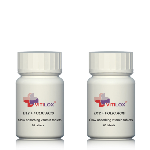 Vitamins B12 & Folic Acid - 2 pack - 120 tablets by Vitilox®